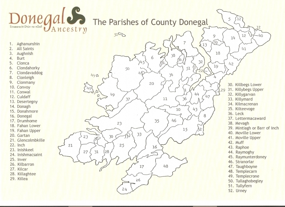 Donegal Civil Parishes
